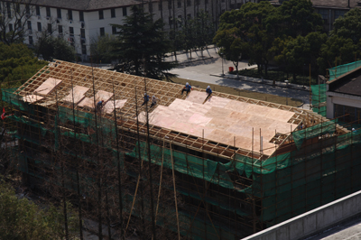 Roofing components are a big market in China for Canadian wood products. (Photo courtesy of Canada Wood)